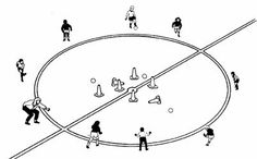 circle game soccer drill for 5 to 8 year olds
