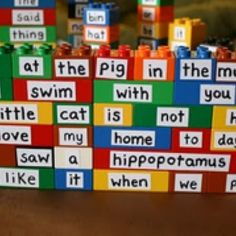 This can be used in a Kindergarten or first grade because they'll be able to make sentences using the correct blocks in order to make sense and grasp the concept of word order as well.