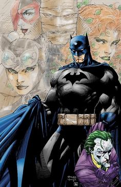 Batman and Joker by Jim Lee