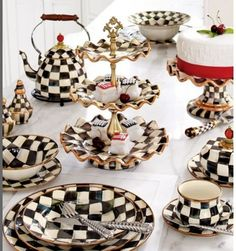 Image detail for -MacKenzie Child checkered set by audra