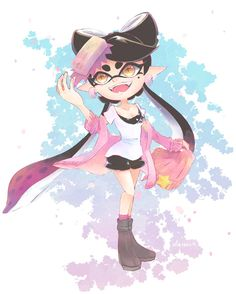 Splatoon Games, Splatoon Comics, Nintendo Splatoon, Splatoon Squid Sisters, Callie And Marie, Rawr Xd, Demon Art, Cute Characters, Funny Games