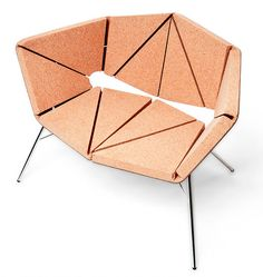 Toni Grilo for Design Cork Susdesign Funky Furniture, Furniture Design, Camping Stool, Cork Wall, Cork Material, Contemporary Side Tables, Love Chair, Cork Flooring, Cork Crafts