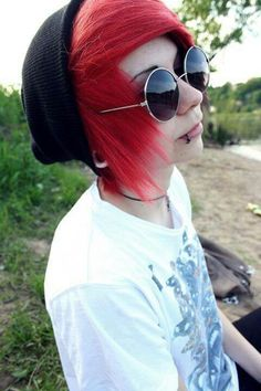 emo boy red hair