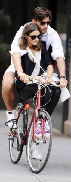 Olivia Palermo & her love....cycling