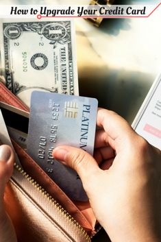 Sometimes you outgrow your existing credit card. One option is to upgrade your credit card to one with better rewards or lower fees. Credit Cards, Saving Money, Card Holder, Save My Money, Frugal