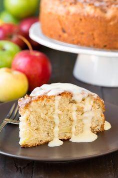Irish Apple Cake with Vanilla Custard Sauce - it's seriously delicious!!