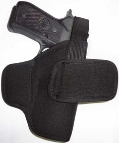 Pancake-Style Belt Concealment Holster  This holster uses belt loops at the front & rear of the holster to pull your handgun tight against your body for better concealment. But unlike simple pancake holsters, the reinforced body maintains the holster open for easy one-hand reholstering. The holster will not collapse when you draw your gun. Forward tilt places gun at the correct angle for superior concealment $28.99