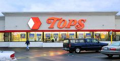Tops Friendly Markets.  this was one of the grocery stores we would go to when i was living in Lancaster NY.