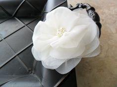 Angelina Headpiece | beautiful handmade silk organza by DarlasBlooms on Etsy, $32.00