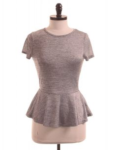 Grey Peplum T-Shirt by Eight Sixty - Size S - $20.95 on LikeTwice.com