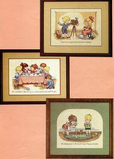 CROSS STITCH Pattern Book Joan Walsh Anglund by by KenyonBooks