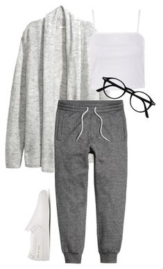 """#331"" by mintgreenb on Polyvore featuring H&M, Topshop and Common Projects"