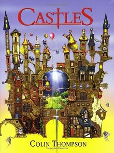 Castles by fave artist Colin Thompson; filled with hidden people and wonders, puzzles, mazes, messages. Naive, Adult Coloring, Coloring Books, Colouring, Castle In The Sky, Polychromos, Cozy Mysteries, Michael J, Fall Halloween