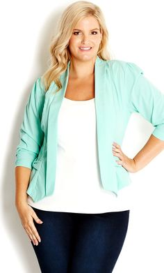 CIty Chic - BOW POCKET JACKET - Women's plus size fashion #citychic #citychiconline #newarrivals #plussize #jackets #Christmas #thanksgiving #Holiday #quote