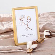 TABLICZKA na stolik z personalizacją Kwiaty Bawełny Place Cards, Place Card Holders, Frame, Decor, Products, Alcohol, Poster, Picture Frame, Decoration