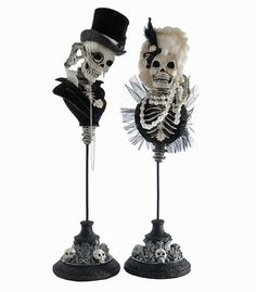 Lord & Lady Skeleton Busts