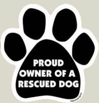 XCar Magnet - Proud Owner of a Rescued Dog