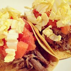 Pulled Pork Tacos with a Citrus Salsa and Napa Cabbage