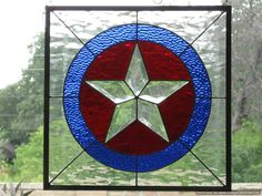 Texas Star Stained Glass Panel by DianeRinebold on Etsy, $198.00