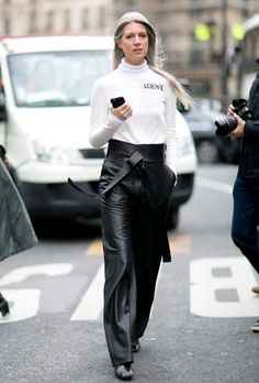 Paris Fashion Week Street 2016.  If you're going to wear black & white there's always a wrong board till I find you!