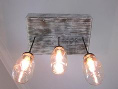 Mason Jar Chandelier with 3 Jars