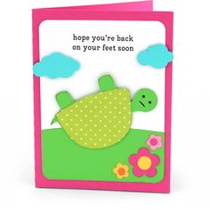 Silhouette Design Store: get well card turtle Get Well Prayers, Scrapbook Cards, Scrapbooking, Cute Cards, Cards Diy, Birthday Cards For Friends, Get Well Soon, Get Well Cards, Silhouette Design