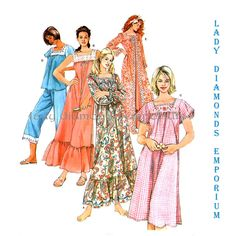833 Simplicity 4048 Womens Lingerie Pajamas Robe Nightgown size M L XL Bust 38 40 42 44 46 48 Medium to Plus Size Sewing Pattern Uncut by ladydiamond46 on Etsy