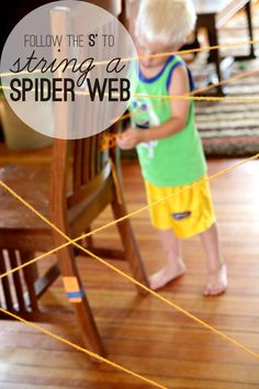 S is for Spider Web. Follow the S to make a spider web.
