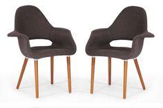 Baxton Studio Forza Fabric Mid-Century Modern Arm Chair