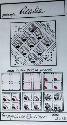 Molly Bee's Attic: Lots of New Tangle Pattern Ideas! From Melinda Butcher.