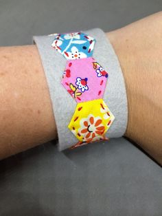 Hexagon Cuff Bracelet - 12 Hexies Blog Hop by Hugs are Fun