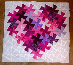 A Quilt of Heather: Valentines Twister Small Quilts, Mini Quilts, Baby Quilts, Quilting Projects, Quilting Designs, Quilting Ideas, Flick Flack, Twister Quilts, Crumb Quilt