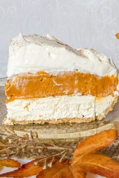 With no baking required, you can literally whip up this dessert in 20 minutes or less. Procrastinators, you're welcome. Get the full recipe at redbookmag.com and click through for more pumpkin pie recipes. #pumpkin #recipes