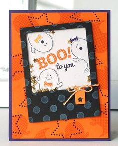 Boo To You Shaker Card by Betsy Veldman for Papertrey Ink (August 2013)