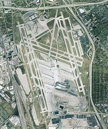 Louisville International Airport is a public and military use public airport centrally located in the city of Louisville in Jefferson County, Kentucky, USA. The airport covers 1,200 acres (4.9 km²) and has three runways. The airport was the 2012 seventh busiest in the world by cargo traffic. Although it currently does not have regularly-scheduled international passenger flights, it is a port of entry, as it handles numerous international cargo flights.