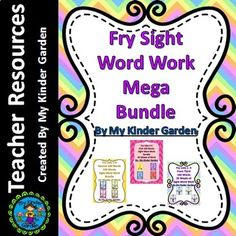 Fry High Frequency Words Sight Word Work Mega Bundle 60 Weeks of Work is a Mega Fry Sight Word Work Bundle. It includes 3 of my bundled items together in one mega bundle. Items included from my TPT store are: Fry List 1-4 Bundle First 100 Words 20 Weeks of Sight Word Work, Fry List 1-4 Bundle Second 100 Words 20 Weeks of Sight Word Work, Fry List 1-4 Bundle Third 100 Words 20 Weeks of Sight Word Work.