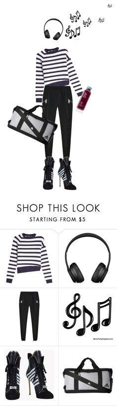 """""""IT!"""" by maria-laura-correa-da-silva ❤ liked on Polyvore featuring Dsquared2, Versus and adidas"""
