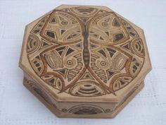 cajas con imagenes de mandalas caja pirograbada simil-madera,cera para lustre pirograbado