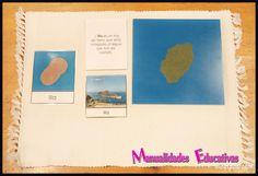 Formas de la tierra y el agua Montessori 2 - Imágenes y descripciones - Creciendo con Montessori