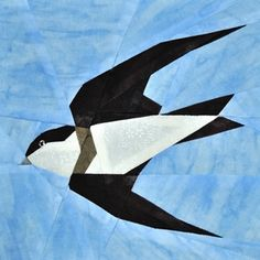 Uferschwalbe / Bank Swallow shared on claudias-quilts, Denmark