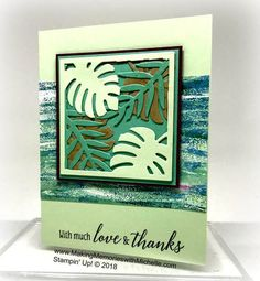 #CASEingTuesday151 features the Tropical Chic Bundle and Tranquil Textures Designer Series Paper. www.MakingMemorieswithMichelle.com Stampin' Up! © 2018