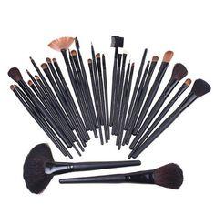 Keral Cosmetic Facial 32 Pcs Kit Makeup Brushes Tools Set ** Click image for more details.