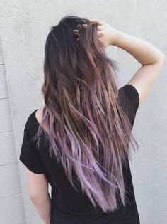 Hair by Sammi Situ - Arcadia, CA, United States. ash brown to lilac balayage!
