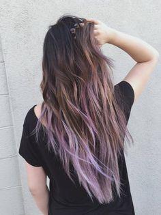 Hair by Sammi Situ - Arcadia, CA, United States. ash brown to lilac balayage!