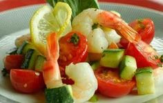 Sautéed Shrimp with Zucchini and Tomatoes