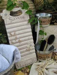 Tablas de lavar decoradas