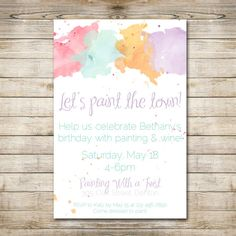 PRINTABLE / DIY Paint Party Invitation by flamingodesigns