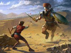 ArtStation - David and Goliath, erik diziron