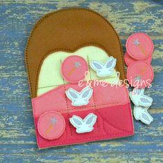 Rose Fairy Tic Tac Toe Embroidery Design - 4x4 or Larger - E&Me Designs