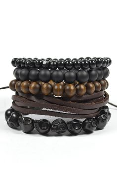 stackable fashion bracelet set